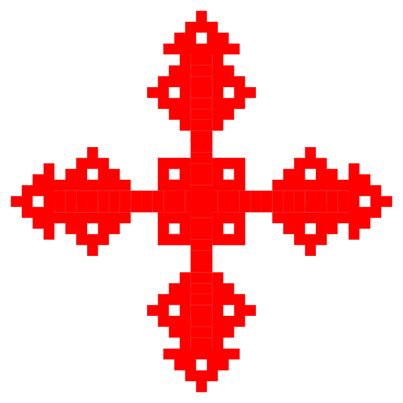 Текстовий слов'янський орнамент: хрест