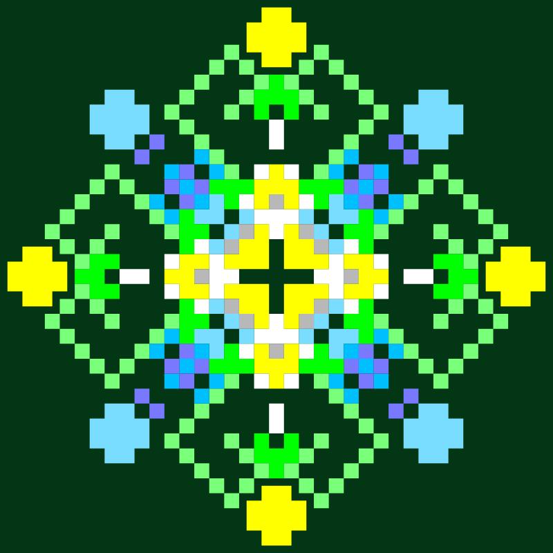 Текстовий слов'янський орнамент: Цвіт акації