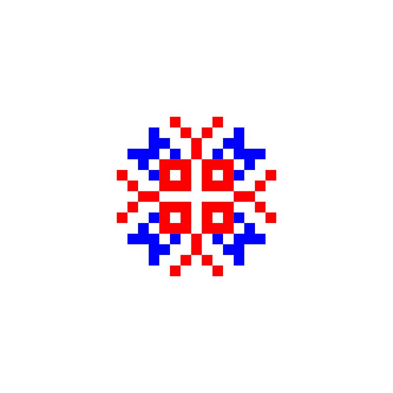 Текстовий слов'янський орнамент: ОУМ