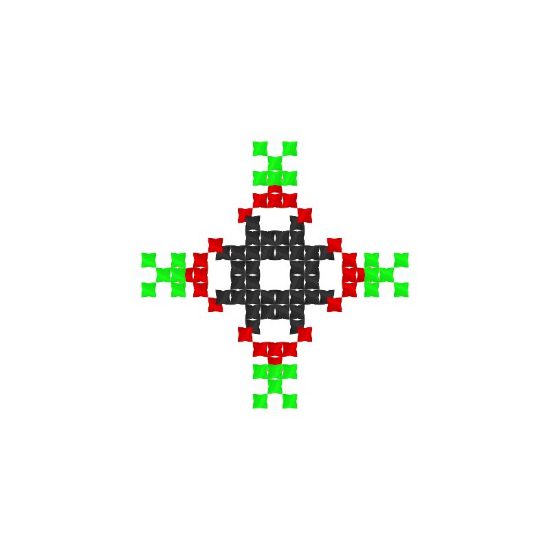 Текстовий слов'янський орнамент: мак