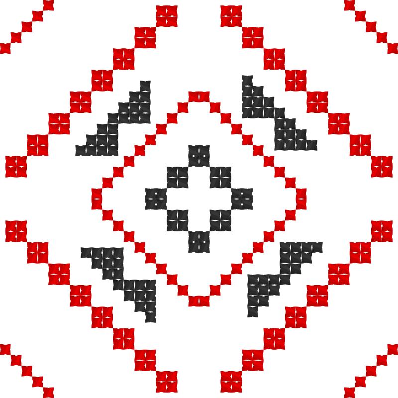 Текстовий слов'янський орнамент: соняшник