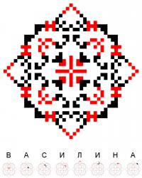 Текстовый украинский орнамент: Василина
