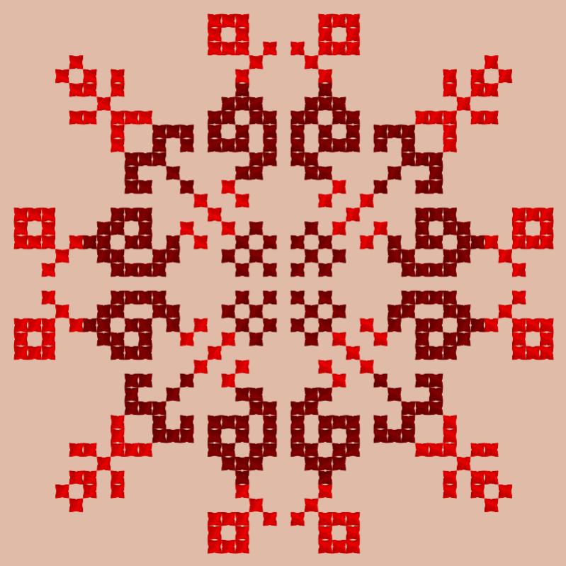 Текстовий слов'янський орнамент: Верблюд