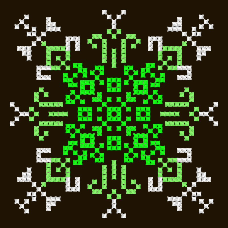 Текстовий слов'янський орнамент: Короновирус капут