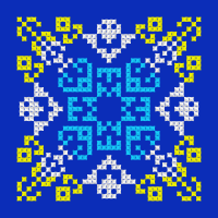 Текстовый украинский орнамент: Море чайки Сочи