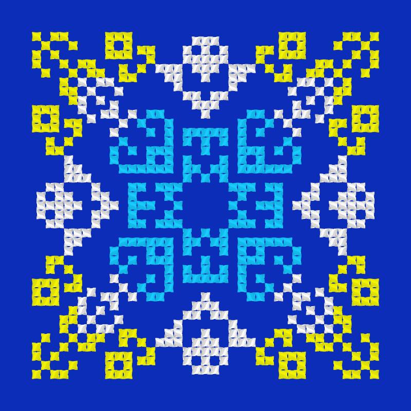 Текстовий слов'янський орнамент: Море чайки Сочи