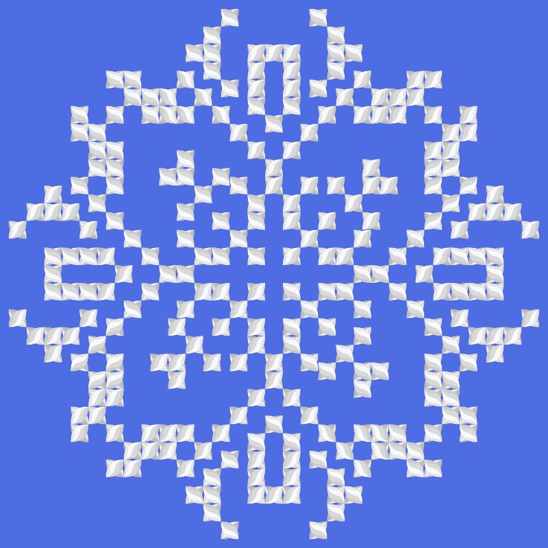 Текстовий слов'янський орнамент: Парусник