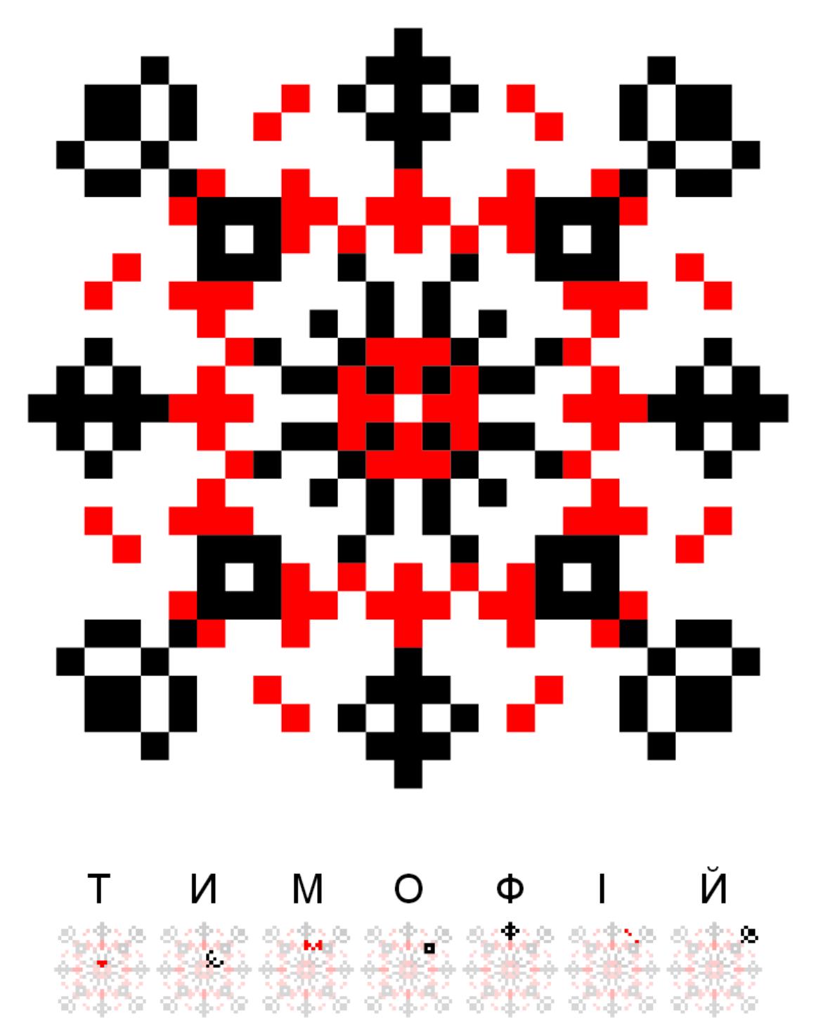 Текстовий слов'янський орнамент: Тимофій