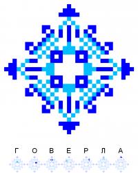 Текстовый украинский орнамент: Говерла