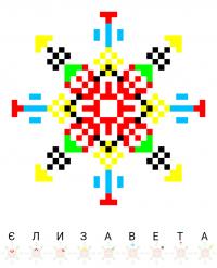 Текстовый украинский орнамент: ЄЛИЗАВЕТА
