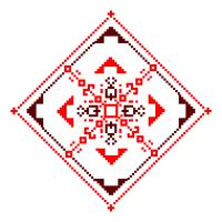 Текстовый украинский орнамент: щастя і любові