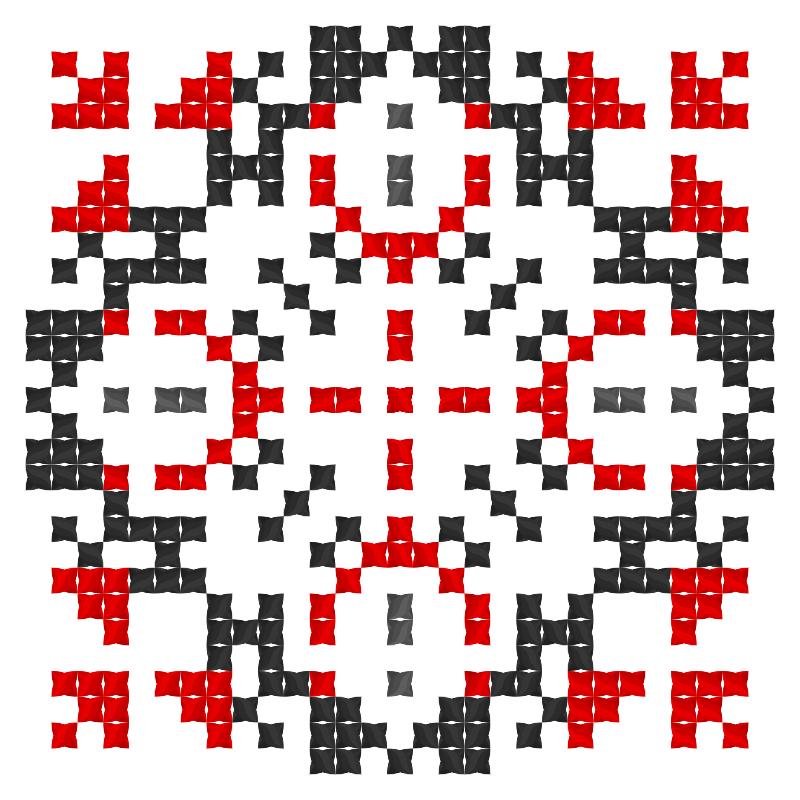 Текстовий слов'янський орнамент: Іван і Марія
