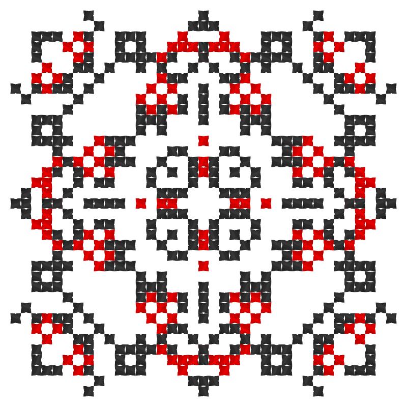 Текстовий слов'янський орнамент: рівненська область