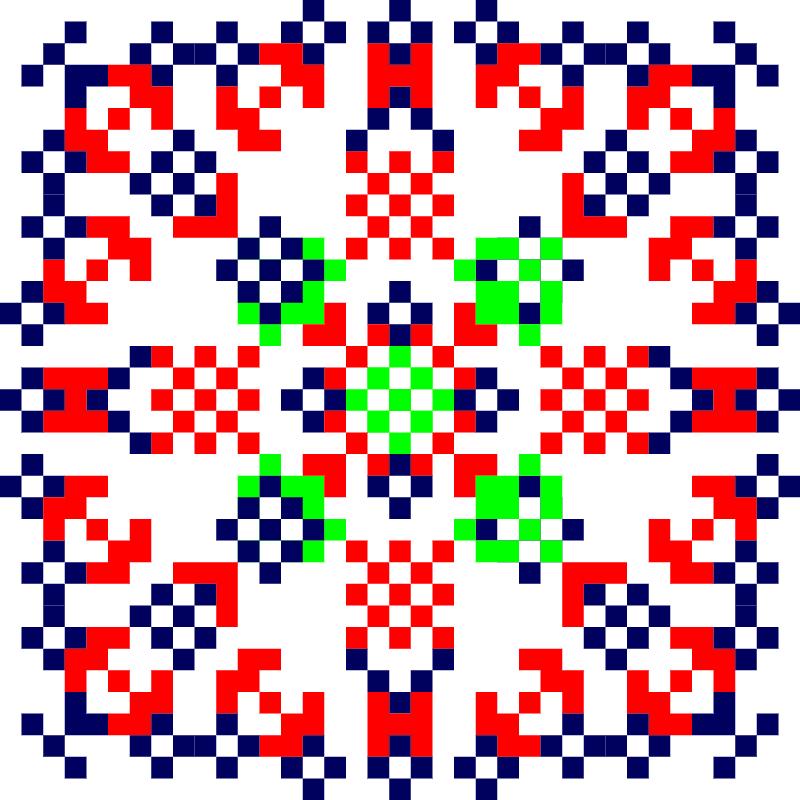 Текстовий слов'янський орнамент: козленко