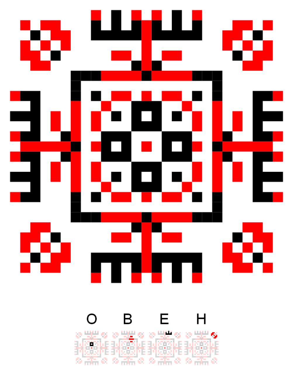 Текстовий слов'янський орнамент: Овен