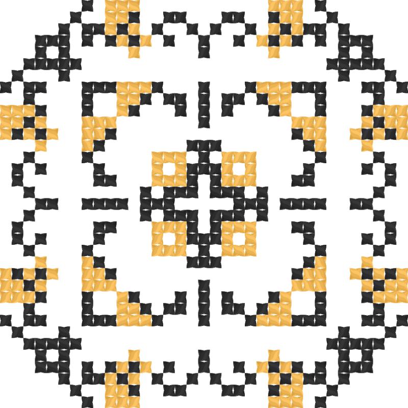Текстовий слов'янський орнамент: Полтавська область