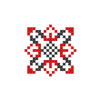 Текстовый украинский орнамент: Олена