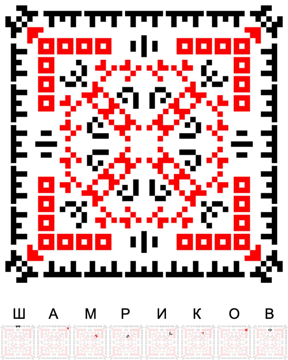 Текстовий слов'янський орнамент: ШАМРИКОВ
