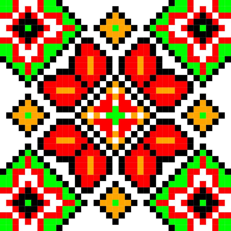 Текстовий слов'янський орнамент: Миколаїв