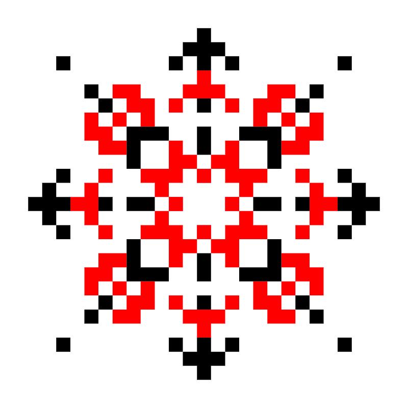 Текстовий слов'янський орнамент: Міланія