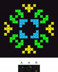 Текстовый украинский орнамент: Аня