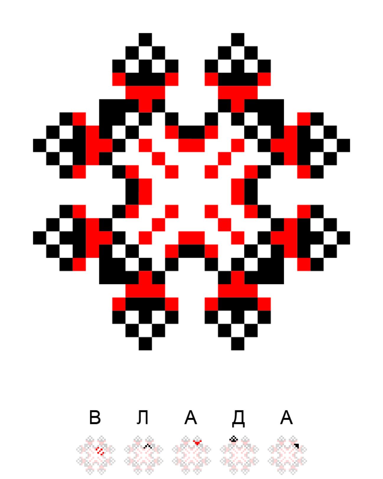Текстовий слов'янський орнамент: Влада