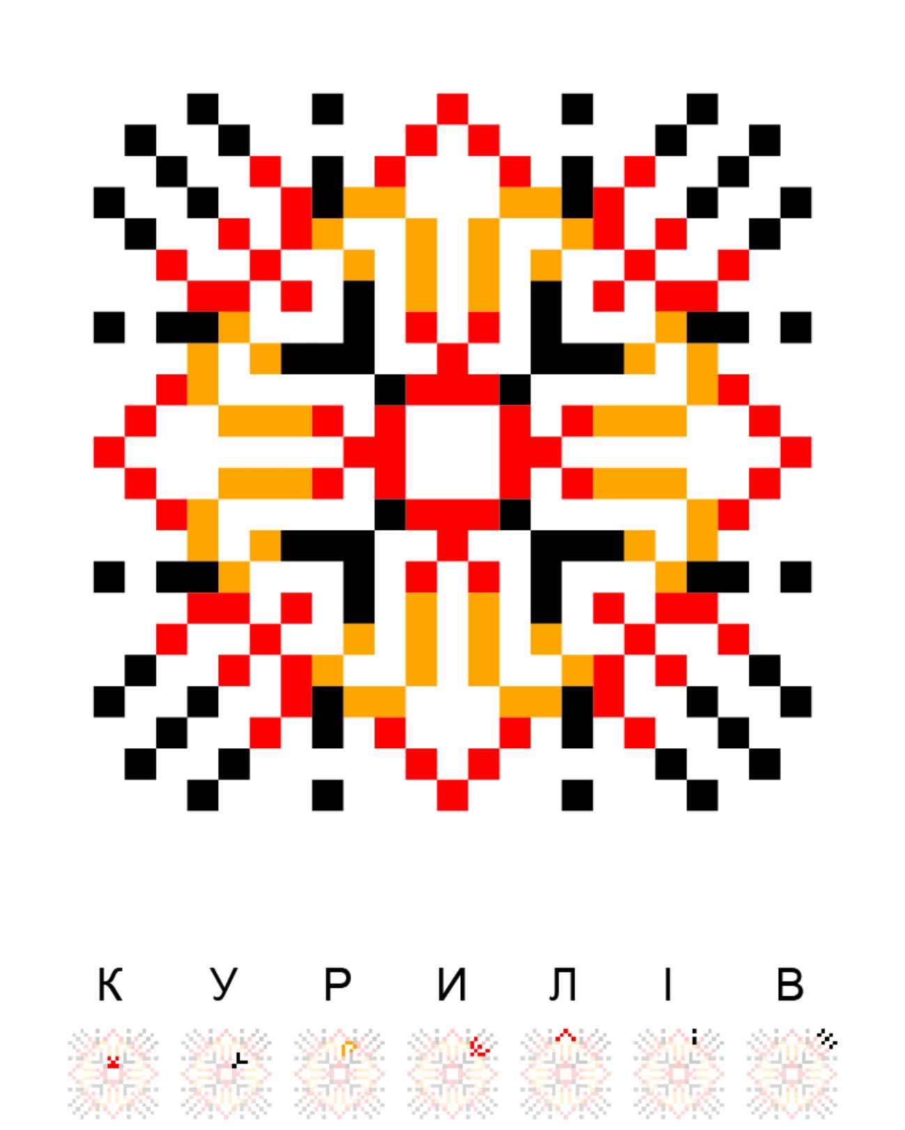 Текстовий слов'янський орнамент: Курилів