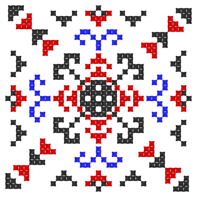 Текстовий слов'янський орнамент: Зірковий вибух