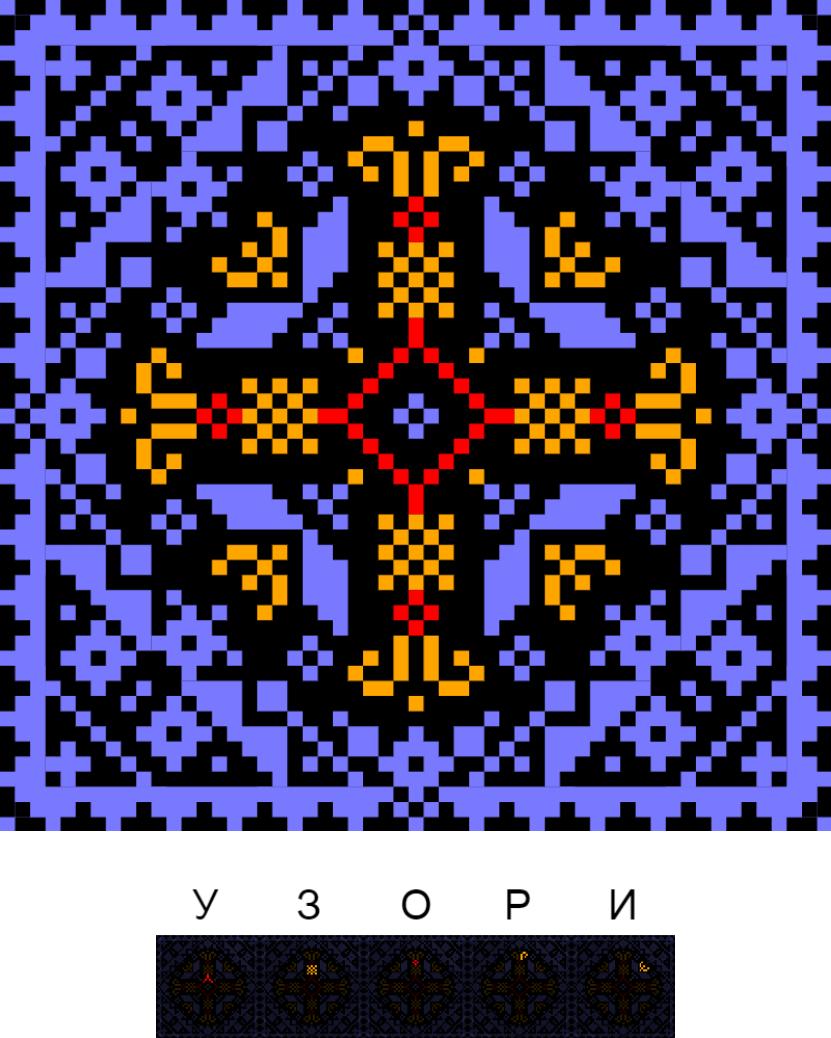 Текстовий слов'янський орнамент: Узори