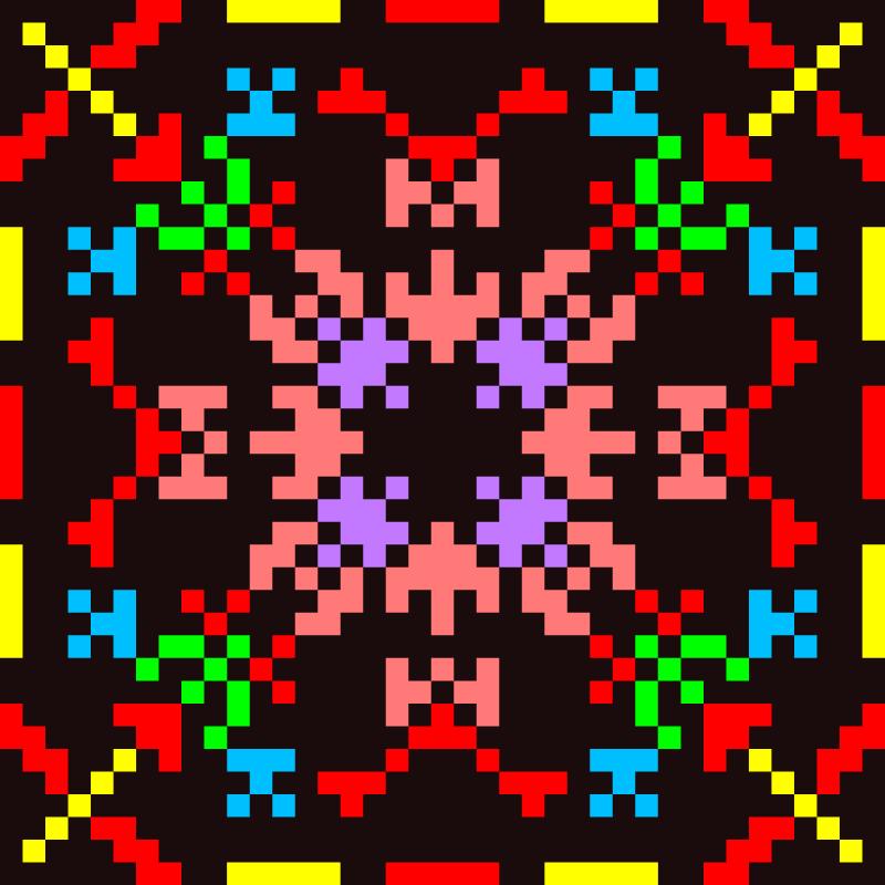 Текстовий слов'янський орнамент: Гимнастика