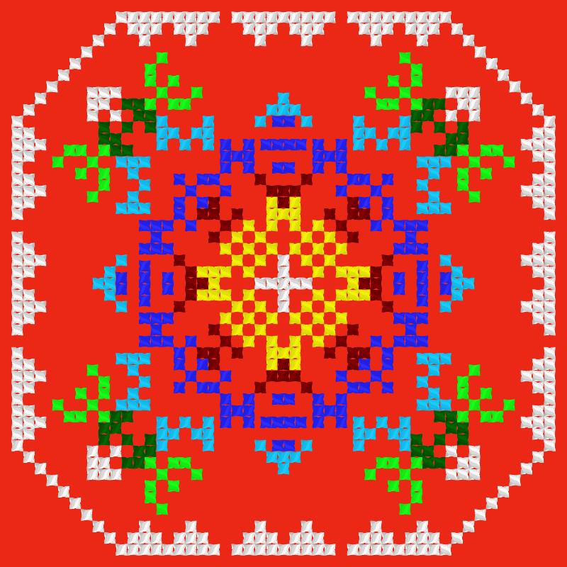 Текстовий слов'янський орнамент: Знак внимания