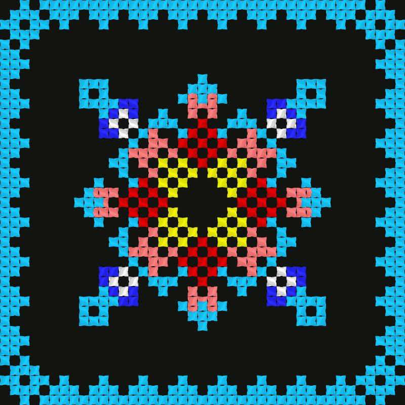 Текстовий слов'янський орнамент: Земная ось