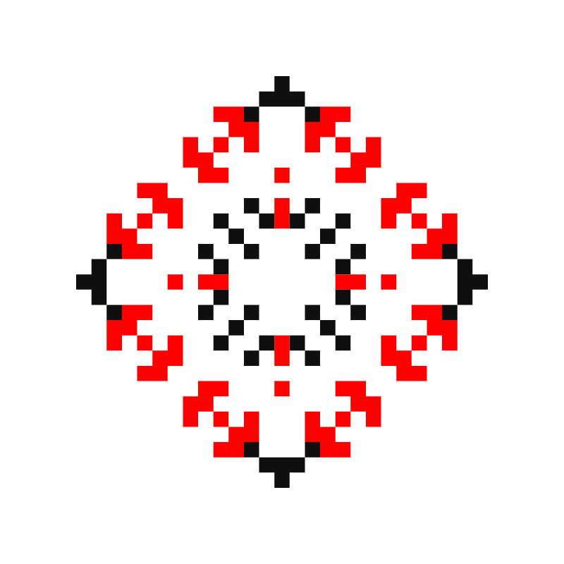 Текстовий слов'янський орнамент: iван