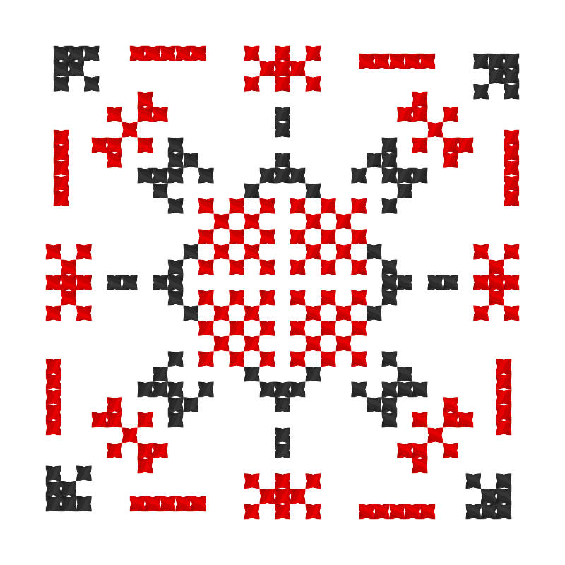 Текстовий слов'янський орнамент: заміжжя