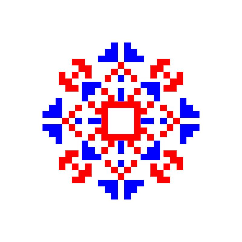 Текстовий слов'янський орнамент: Хомяк