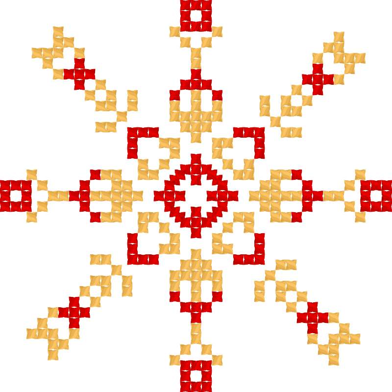 Текстовий слов'янський орнамент: я сильна духом