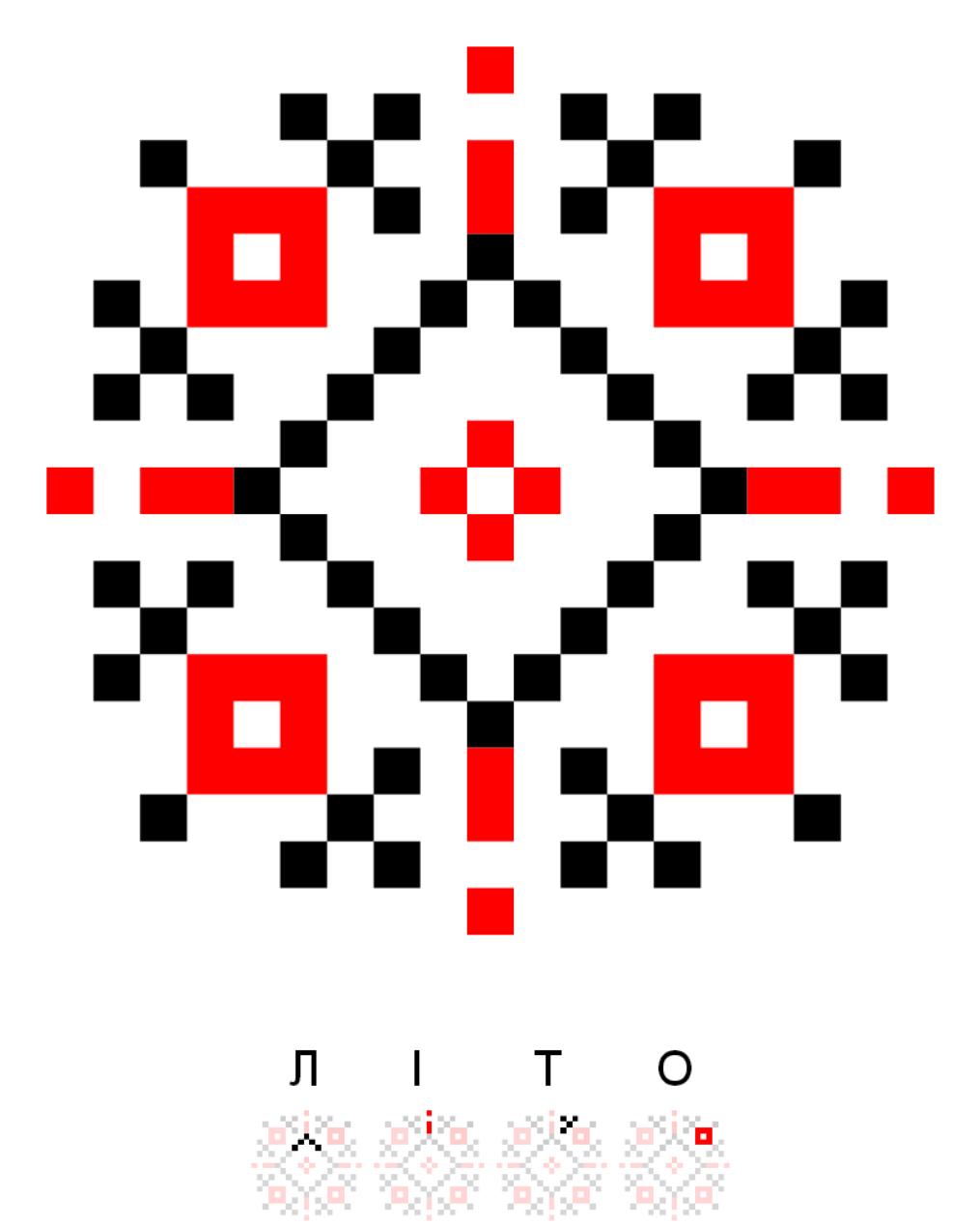 Текстовий слов'янський орнамент: Літо