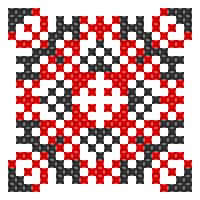 Текстовый украинский орнамент: я дружина 2