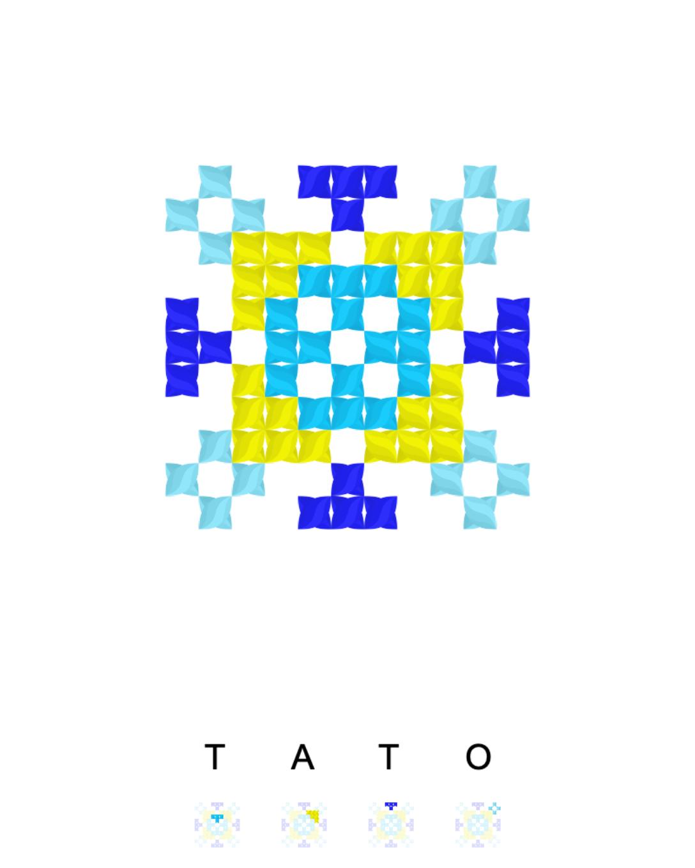 Текстовий слов'янський орнамент: ТАТО