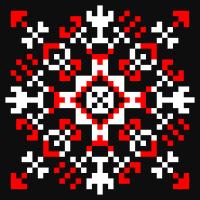 Текстовый украинский орнамент: чорний світлана сила життя