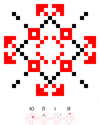 Текстовый украинский орнамент: Ім'я
