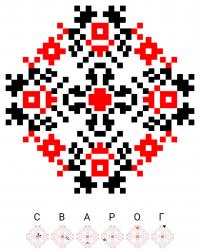 Текстовый украинский орнамент: Сварог