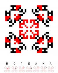 Текстовый украинский орнамент: Богдана