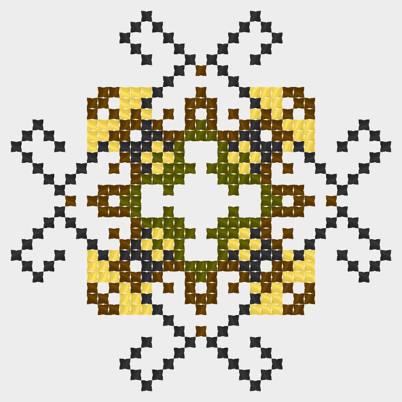 Текстовий слов'янський орнамент: Гармонія