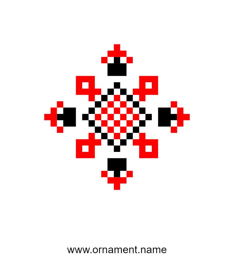 Текстовий слов'янський орнамент: ольга