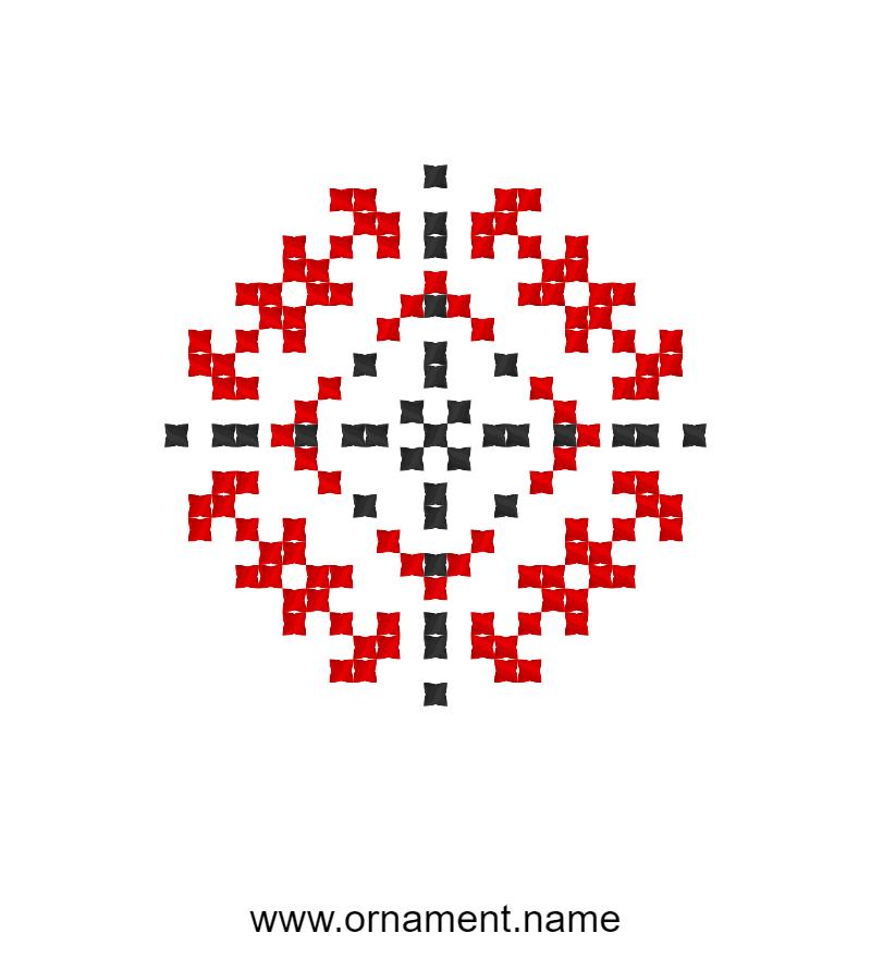 Текстовий слов'янський орнамент: ЛІНА
