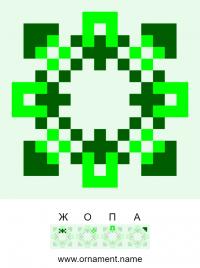 Текстовый украинский орнамент: зелена жопа 2