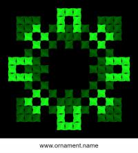 Текстовый украинский орнамент: Зелена жола