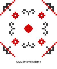 Текстовый украинский орнамент: Вишиванка