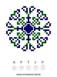 Текстовый украинский орнамент: Артур
